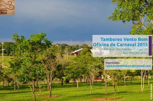 Parque das Nações Indígenas e a Concha Acústica ao centro - local de ensaio do Tambores Vento Bom